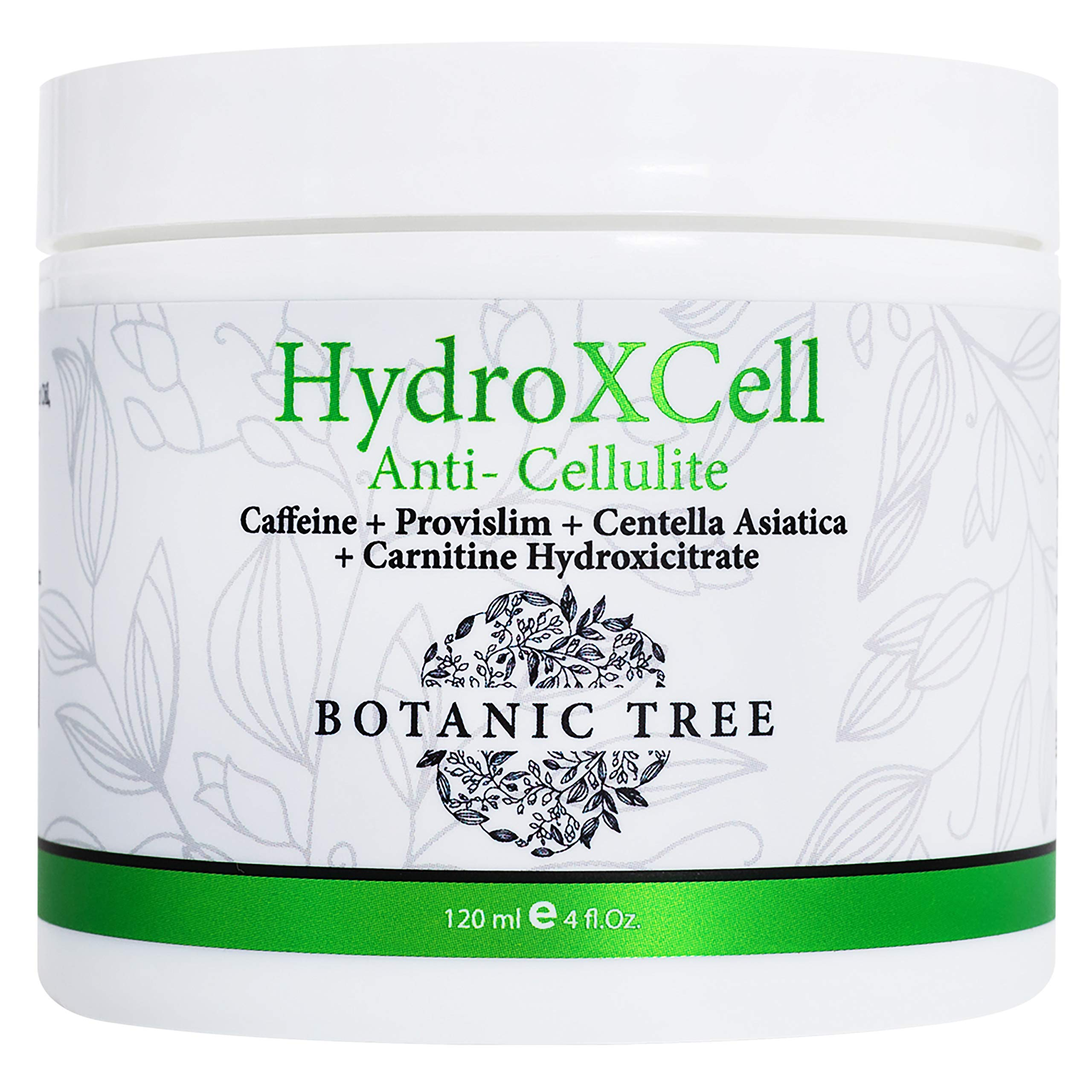 HydroXCell Anti Cellulite Cream Botanic Tree-Decrease Cellulite in 92% of Customers After 2 Months-Proven Results-100% Organic Extract-Cellulite Cream Remover w/Caffeine,Centella Asiatica,and Gingko.( Packaging may vary)