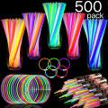 """TURNMEON 500 Glow Sticks Bulk Party Favors,Glow In the Dark Party Supplies Glow Sticks Necklaces Bracelets with Connectors 8"""" Glowsticks Light Up Toys Party Pack for Neon Music Festival Birthday July 4th"""