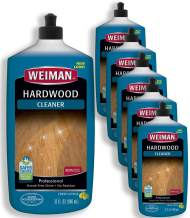 Weiman Hardwood Floor Cleaner - 32 Ounce (6 Pack) - for Hardwood, Finished Oak, Maple, Cherry, Birch, Engineered - Professional, Safe, Streak-Less
