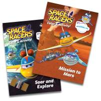Space Racers Coloring & Activity Books - Jumbo 2 Book Set - Mission to Mars - Soar and Explore - Fun Preschool STEM Activities for Kids - Coloring Pages - Science Games - Mazes - 96 Pages Each