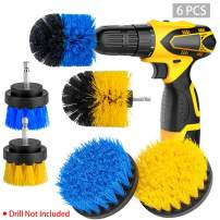 [6-PCS]Drill Brush Attachment Set, Power Scrubber Brushes Cleaning Kit for Bathroom Surfaces Tub, Shower, Tile and Grout