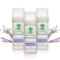 Green Tidings Organic All Natural Deodorant, Lavender, 2.7 Ounces (3 Pack)