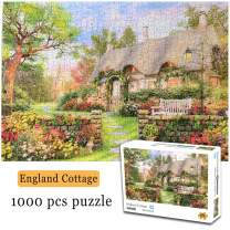 LZZTU Jigsaw Puzzle for Adults, 1000 Piece Educational Intellectual Decompressing Game, Family Game Time DIY Home Decor Wall Decor Puzzle 16.5x11.7 Inch, Cottage