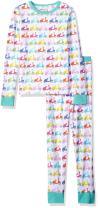 Trimfit Girls' Big Organic Cotton 2-Piece Long Sleeve Dreamwear Pajama Set