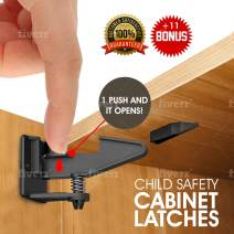Premium Baby Safety Cabinet Locks Bundle - Protect Your Child from harm with Our 10-Pack Child Proof Cabinet Locks with Strongest 3M Adhesive - Easy to Install Baby Locks for Cabinets and Drawers