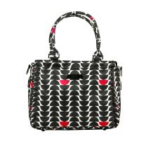 JuJuBe Be Classy Structured Multi-Functional Diaper Bag/Purse, Onyx Collection - Black Widow