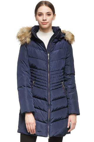 Orolay Womens Short Down Jacket with Non-Detachable Hood Packable Puffer Jacket