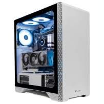 Thermaltake LCGS Glacier 370 AIO Liquid Cooled CPU Gaming PC (AMD Ryzen 5 5600X 6-core, ToughRam DDR4 3600Mhz 16GB RGB Memory, NVIDIA GeForce RTX 3070, 1TB NVMe M.2, Win 10 Home) S3WT-B550-37G-LCS