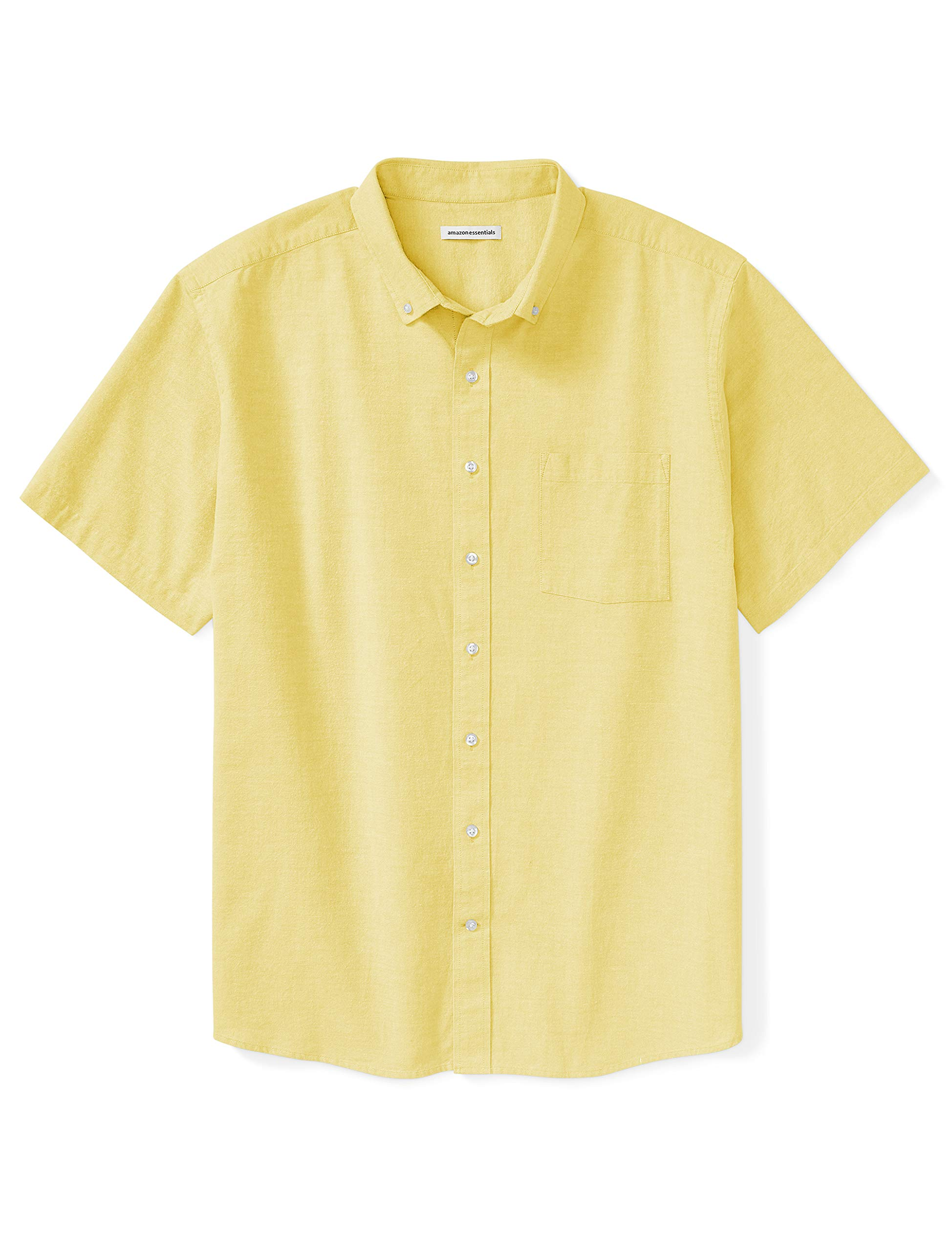 Amazon Essentials Men's Short-Sleeve Pocket Oxford Shirt fit by DXL
