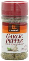 Lawry's Garlic Pepper Coarse Ground Blend, 2.6 -Ounce Shakers (Pack of 6)