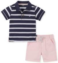 Nautica Boys' 2 Pieces Polo Shorts Set