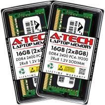A-Tech 16GB (2x8GB) DDR4 2400MHz SODIMM PC4-19200 2Rx8 Dual Rank 1.2V CL17 260-Pin Non-ECC Unbuffered Notebook Laptop RAM Memory Upgrade Kit