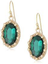 1928 Jewelry Gold-Tone Oval Drop Earrings