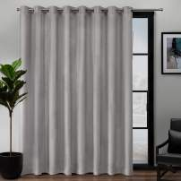 Exclusive Home Curtains Loha Patio Grommet Top Single Curtain Panel, 108X84, Dove Grey