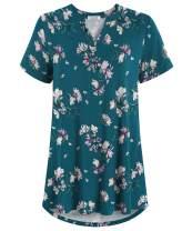 Esenchel Women's Plus Size Notch Neck Tunic Top