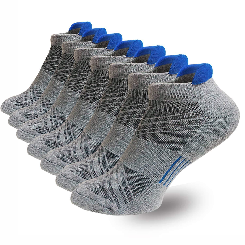 Men's Ankle Athletic Running Socks Sports Performance Best Comfort Cushioned Tab Socks