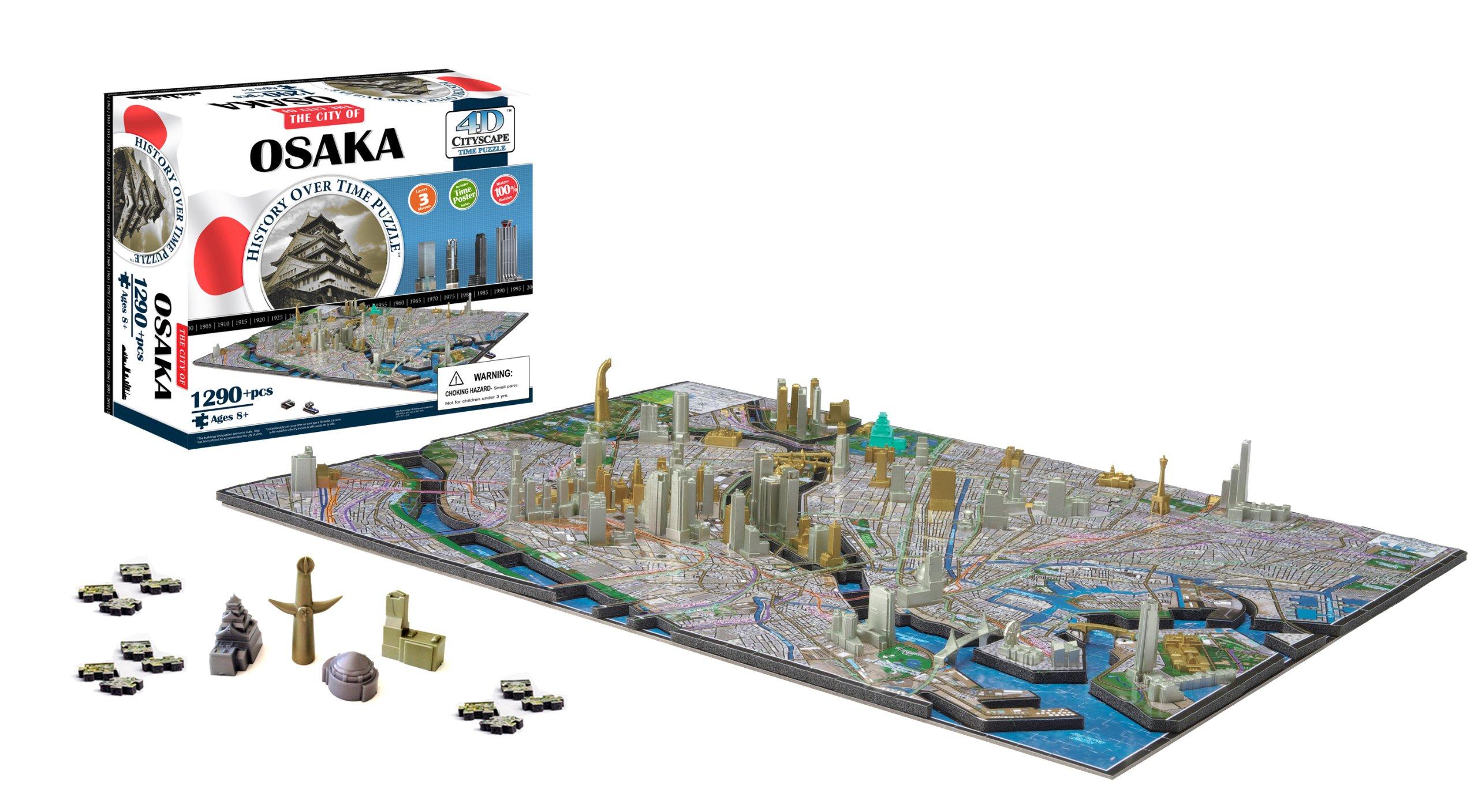 4D Cityscape Osaka Japan Puzzle