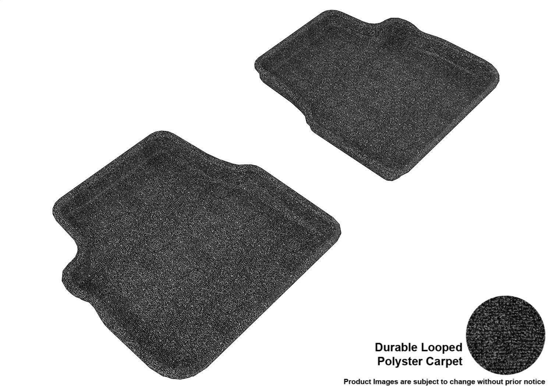Black Nylon Carpet Coverking Custom Fit Front Floor Mats for Select Pontiac G8 Models
