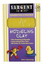 Sargent Art 22-4002 1-Pound Solid Color Modeling Clay, Yellow