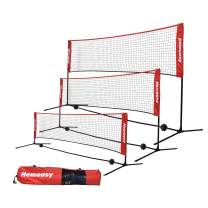 wowspeed Portable Badminton Net Set,Easy Setup Nylon Sports Badminton Tennis Net with Poles & Carrying Bag for Backyard, Beach, Driveway,Gym,Indoor, Outdoor Court