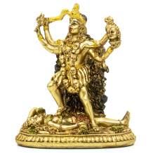 BangBangDa Hindu Goddess Kali Statue Sculpture - Indian God Decorative Antique Idol - India Goddess of Time and Death Figurine Murti Pooja Puja Buddha Temple Mandir Decor
