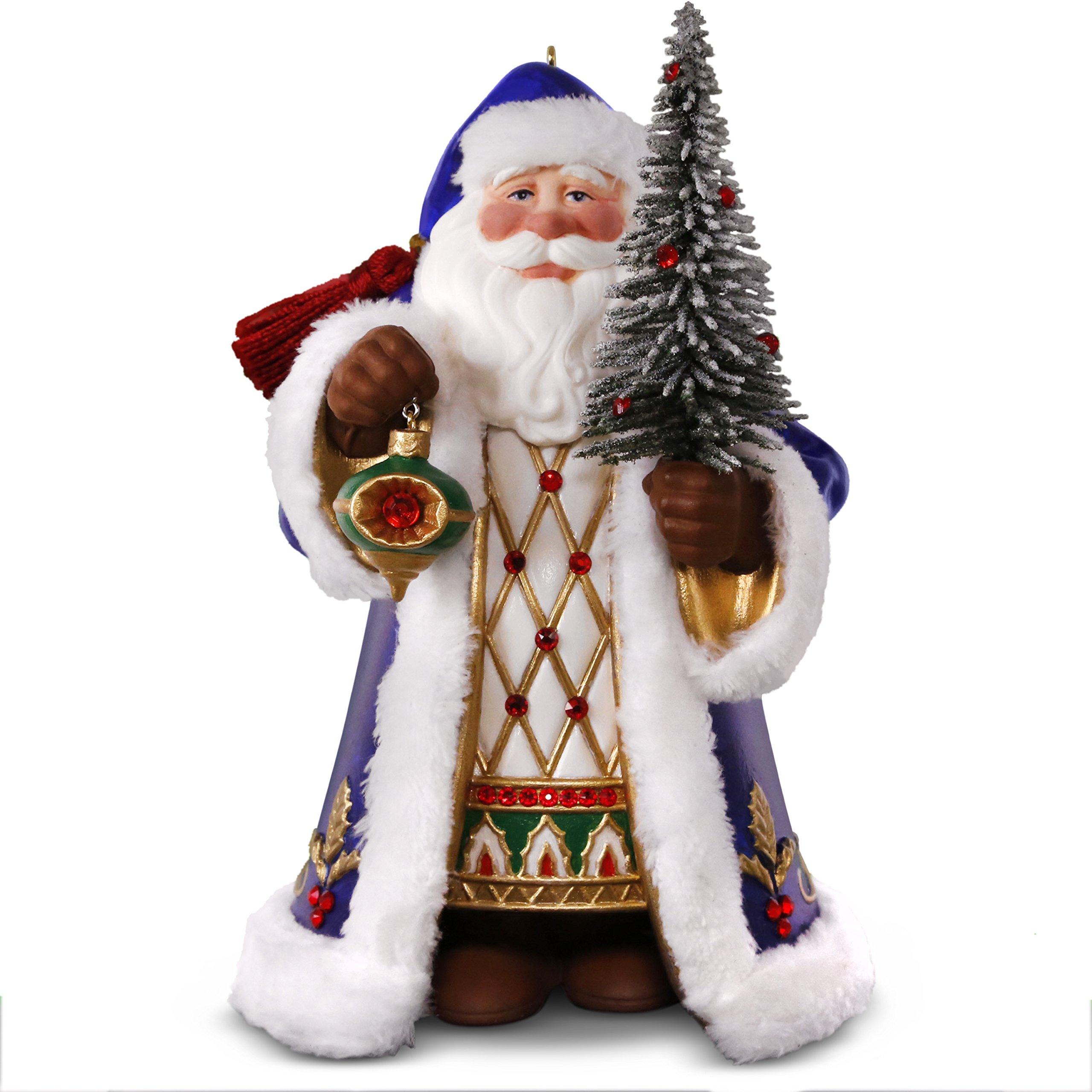 Hallmark Keepsake Christmas Ornament 2018 Year Dated, Old World Santa, Porcelain