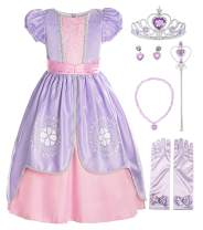 ReliBeauty Girls Short Sleeve Costume Princess Dress
