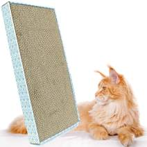 ASPCA Cat Scratcher Catnip Included, Wide Flat Corrugate Cardboard, Reversible Horizontal Pad