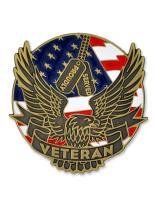 PinMart Proudly Served Veteran Eagle Patriotic Enamel Lapel Pin