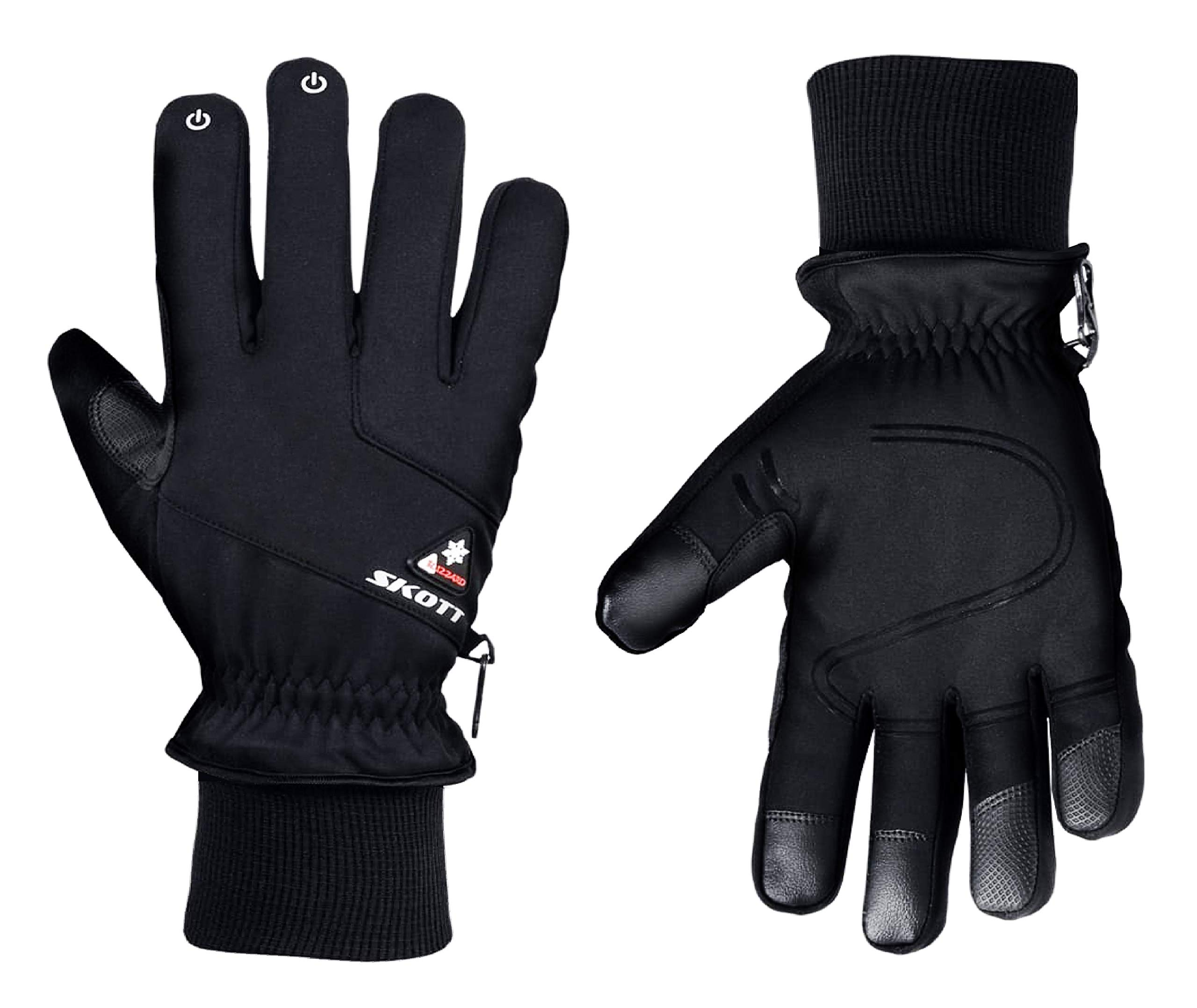 Skott Blizzard Insulated Winter and Multi-Sport Gloves for Outdoor Activities with Unisex Design and Touch Screen Feature