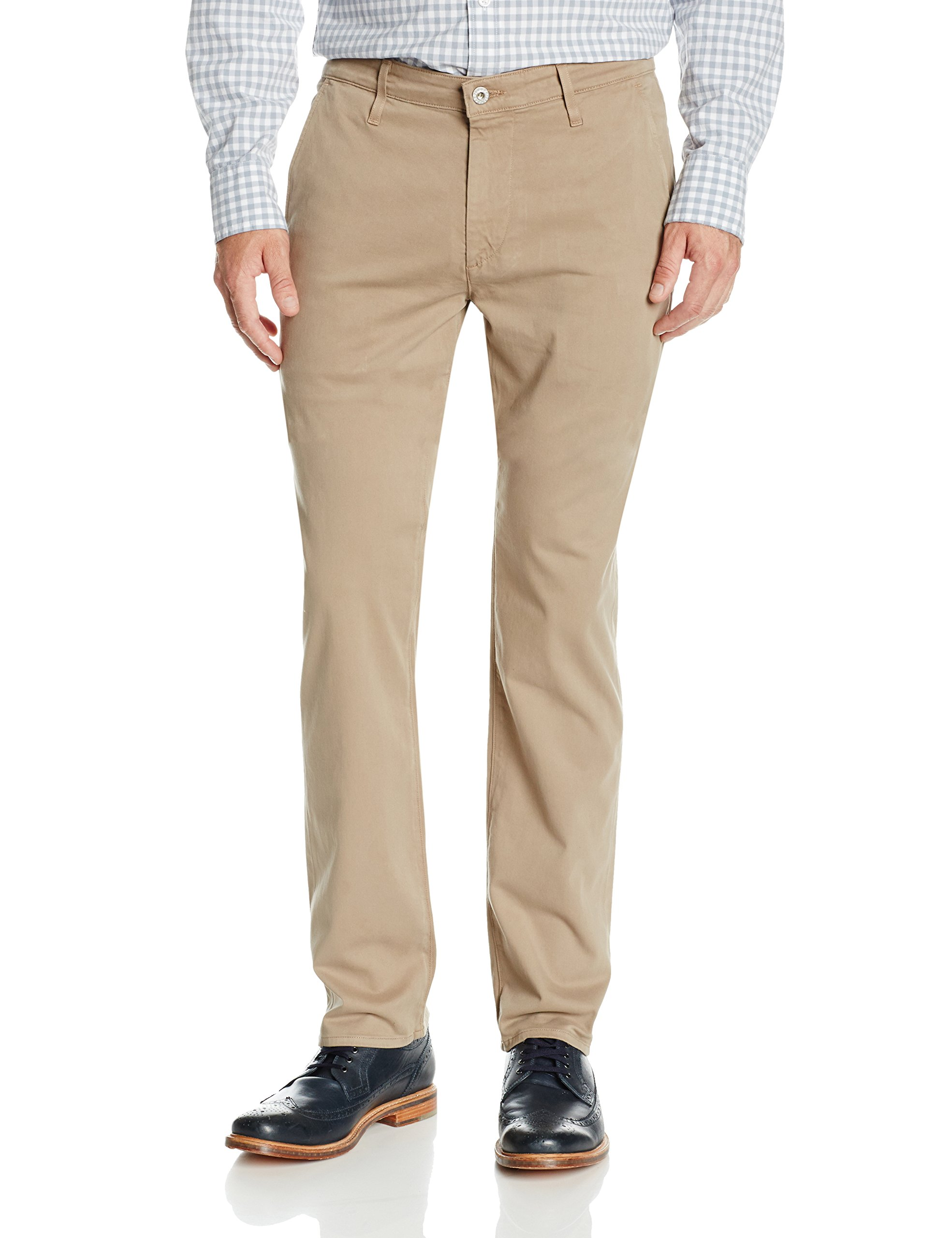 AG Adriano Goldschmied Men's The Lux Khaki Tailored Trouser Pant