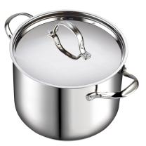 Cooks Standard Quart Classic Stainless Steel Stockpot with Lid, 12-QT, Silver