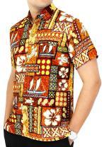 LA LEELA Men's Regular Fit Hawaiian Shirt Premium Casual Dress Shirt Printed B