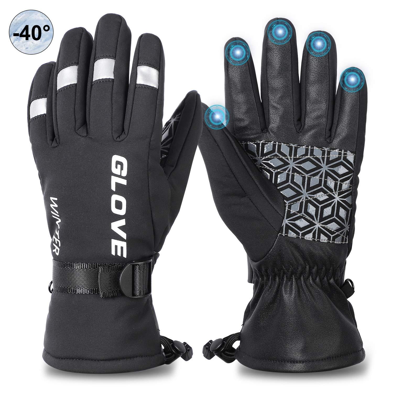 Men Women Winter Touch Screen Outdoor Driving Warm Windproof Waterproof  Gloves
