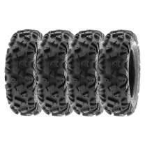 "SunF 22x10-12 22x10x12 Tubeless 6 PR 22"" ATV UTV Tires A033 POWER I [Set of 4]"