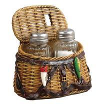 Fishing Creel Salt & Pepper Shaker Set - Cabin Kitchen Decor