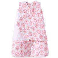 Halo Micro Fleece Sleepsack Swaddle Wearable Blanket, Pink Floral Medallions, Newborn
