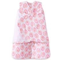 Halo Micro Fleece Sleepsack Swaddle Wearable Blanket, Pink Floral Medallions, Newborn