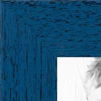 ArtToFrames 19x27 inch PeriwinkleRustic Barnwood Wood Picture Frame, 2WOM0066-77900-YBLU-19x27, 19 x 27, Blue