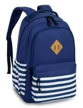 Leaper Canvas Backpack bag School Bookbags College Bag Travel Daypack Dark Blue