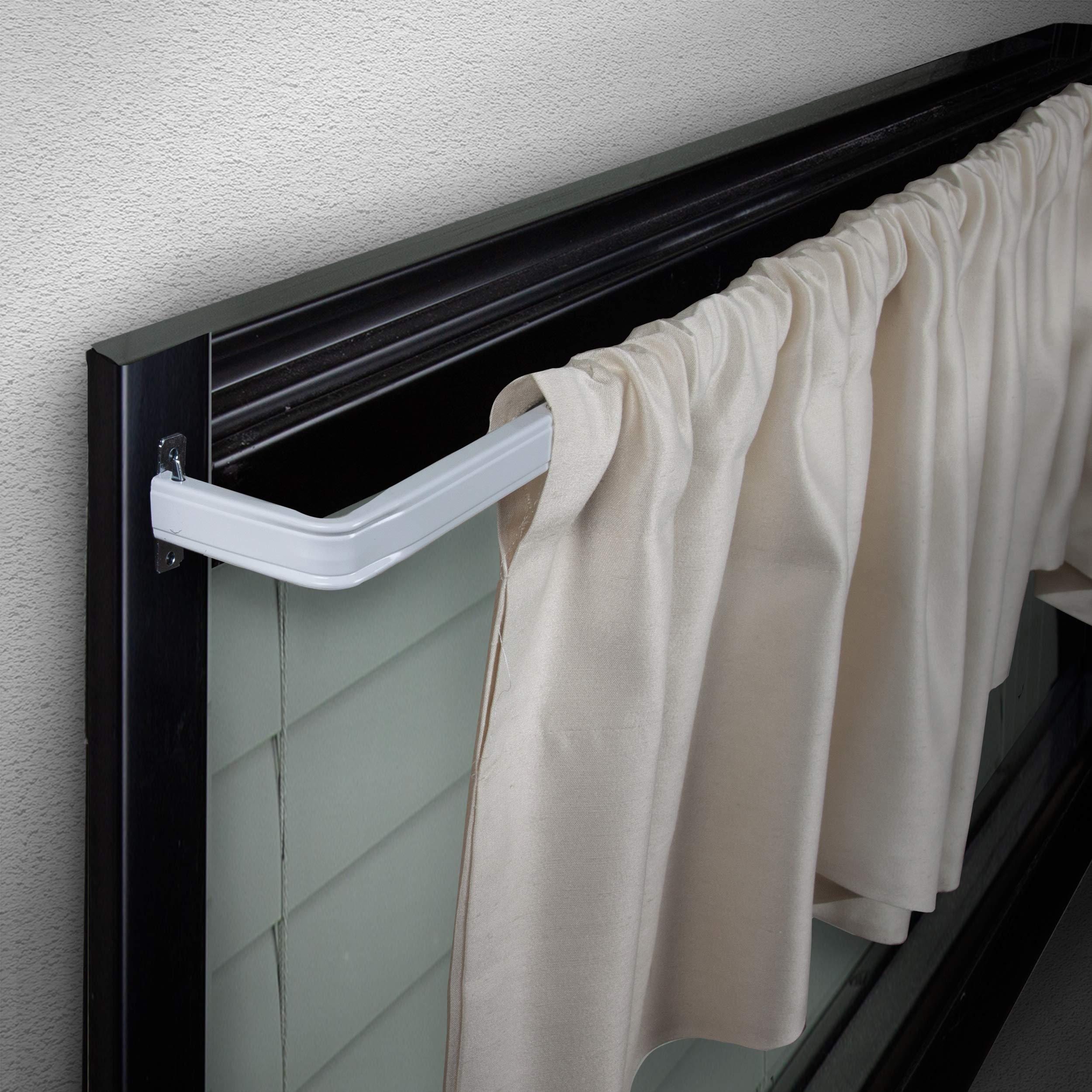 "Rod Desyne Lockseam 3"" Curtain Rod, 48-84 inch, White"