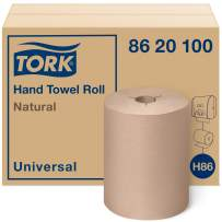 Tork Universal Hand Towel Roll H86, Economic Paper Hand Towel 8620100 for Mini Dispensers, 100% Recycled, 1-Ply, Natural - 12 Rolls x 425 ft