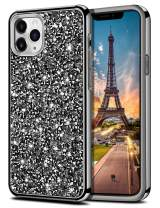 HoneyAKE Case for iPhone 11 Pro Case Bling Rhinestone Sparkly Crystal Diamond Shockproof Handmade Dual Layer Shell Hard PC Soft Rubber Bumper Protective Cover for iPhone 11 Pro 5.8 inch Black