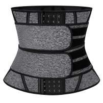 SLIMBELLE Waist Trainer Belt for Women Sweat Waist Cincher Trimmer Body Shaper Girdle Fat Burn Belly Slimming Band for Weight Loss Fitness Workout