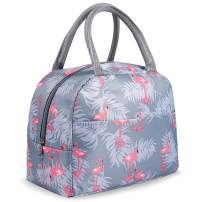 Lunch Bags for Women Insulated Lunch Bag Adult Lunch Bags Women Lunch Box Jeopace(Blue Flamingo Small)