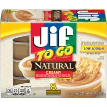 Jif To Go Natural Creamy Peanut Butter, 48-1.5 Ounce Cups, 7g (7% DV) of Protein per Serving, Smooth and Creamy Texture, Snack Size Packs