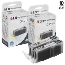 LD Compatible Ink Cartridge Replacement for Canon CLI-271XL 0336C001 High Yield (Black, 2-Pack)