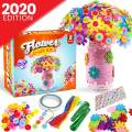 GoodyKing Flower Craft Kit for Kids - Colorful Button & Felt Flowers and Flower Vase Arts and Crafts Project for Boys and Girls - Fun DIY Activity for Children Ages 4 5 6 7 8 9 10 Years Old