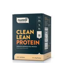 Nuzest Clean Lean Protein - Premium Vegan Protein Powder, Plant Protein Powder, European Golden Pea Protein, Dairy Free, Gluten Free, GMO Free, Just Natural (UNFLAVORED), 10 Count