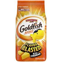 Pepperidge Farm Goldfish Flavor Blasted Xtra Cheddar Crackers, 6.6 oz. Bag (Pack of 6)